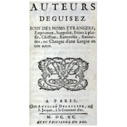 (BAILLET, ADRIAN 1649-1706).